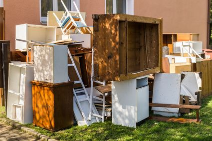 Disposal of old furniture and waste